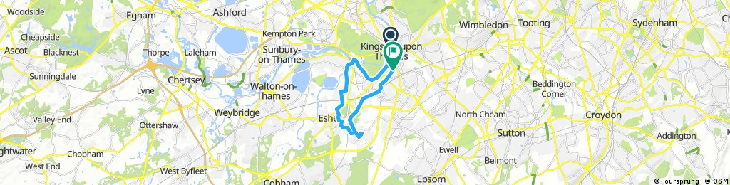 Evening ride to Claygate