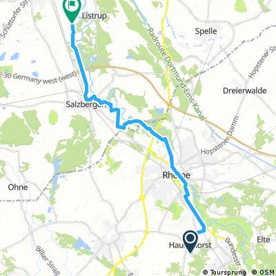 Hauenhorst - Mehringen ca. 24 km