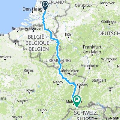 Soesterberg naar Basel.