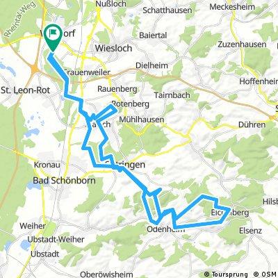 Crosser-Wege von Walldorf über Östringen nach Eichelberg