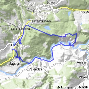 Flims Laax Falera 3 Vorab Grauberg 247 Bikemap Your bike routes