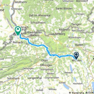 17 1 Elsass: Wohlen - Basel Donnerstag