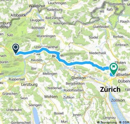 Lange Radrunde von Bözberg nach Zürich
