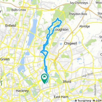 21 Mile Round Trip Epping Forest