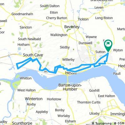 Lengthy bike tour through Hull