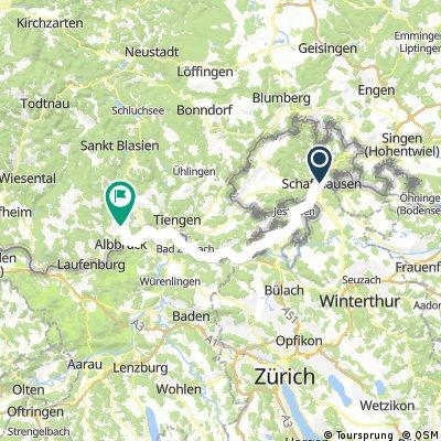 schauffhausen to Albbruck (sun night)