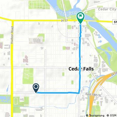 Quick ride through Cedar Falls