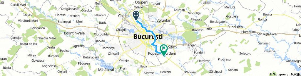 bike tour from Bucharest to Popești-Leordeni
