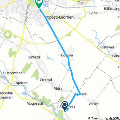 bike tour from Colibaşi to Bucharest