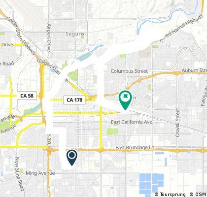 bike tour through Bakersfield
