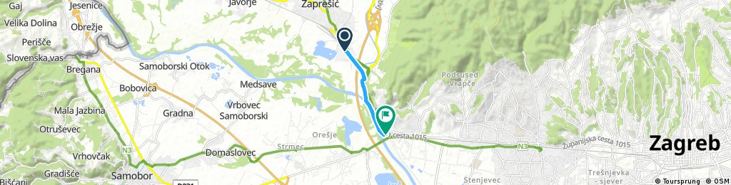 Quick bike tour from Zaprešić to Zagreb
