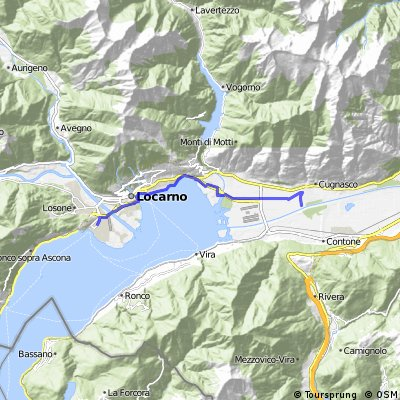 Ascona - Cugnasco - fiume Ticino