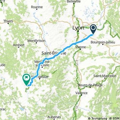 Lyon airport nach Le Puy direkt