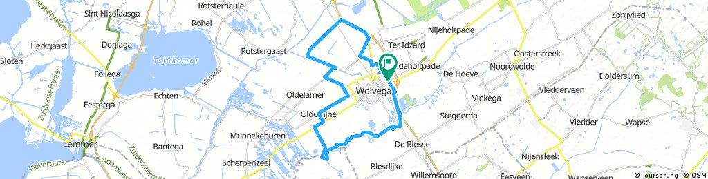 rondje Wolvega, Nijeholtwolde, Nijelamer, Sonnega, Nijetrijne, De Blesse, W'ga.