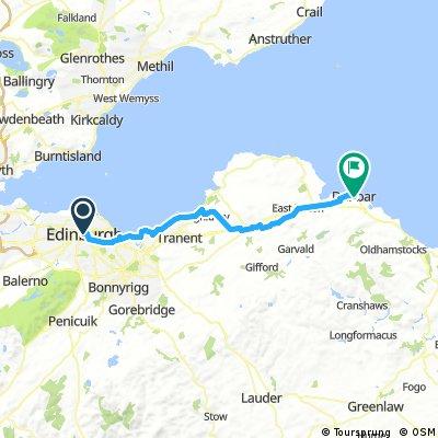 E2L Day 1 - Edinburgh to Dunbar