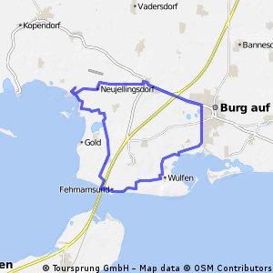 Fehmarn: Burg - Fehmarnsundbrücke - Lemkenhafen - Burg