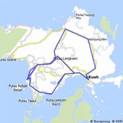 2010 Ironman Langkawi Cycling Route