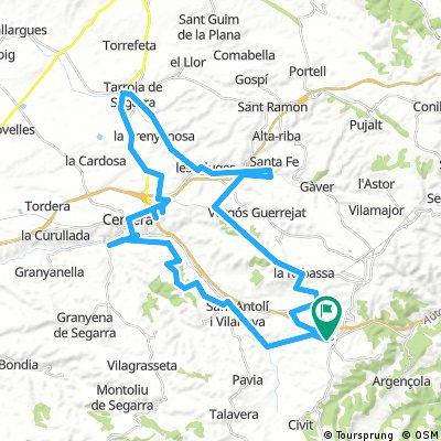 Segarra- vall del Sió. vall de l´Ondara