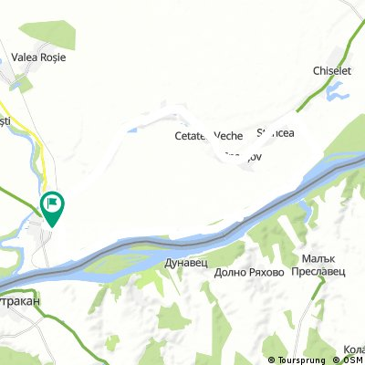 Oltenita - Stancea - Spantov - Cetatea Veche - Ulmeni - Oltenita (pe malul Dunarii)