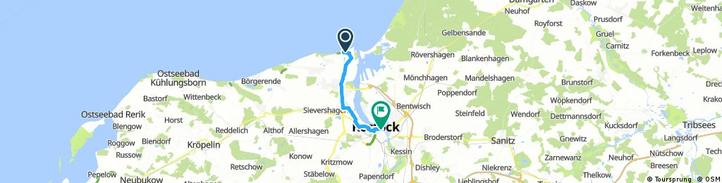 Route Warnemünde 1