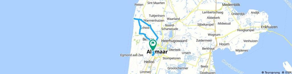 Lengthy bike through Alkmaar