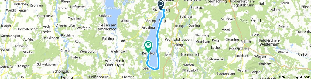 Lange Ausfahrt von Starnberg nach Bernried am Starnberger See