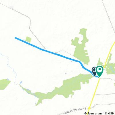 Long bike tour through Gualeguaychú