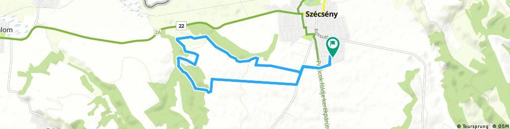 bike tour through Szécsény