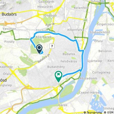 bike tour from Budapest to Budapest XXII. kerület