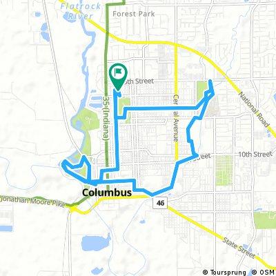 bike tour through Columbus