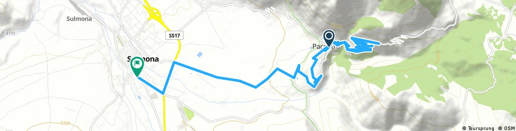 ride from Pacentro to Sulmona
