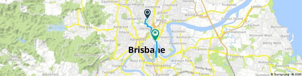 Quick bike tour from Windsor to Fortitude Valley