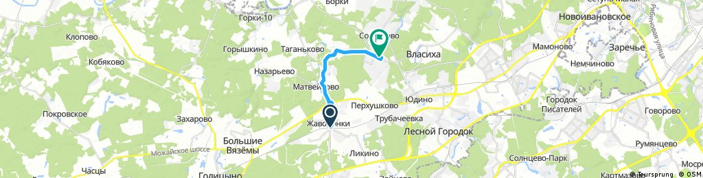 Жаворонки-Лапино (quick doctor's bike tour to work)