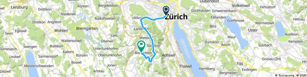 bike tour from Zürich to Bonstetten