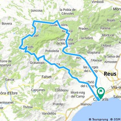 Cambrils - Serra de Montsant - Cambrils