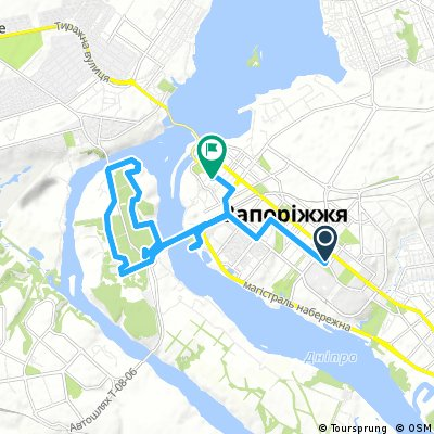 bike tour through Запорожье