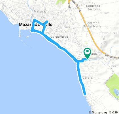ride through Mazara del Vallo