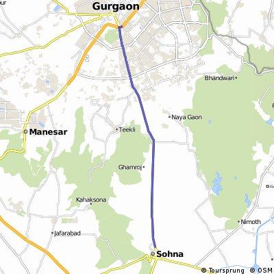 Gurgaon to Sohna