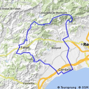 Cycling routes and bike maps in and around Cambrils Bikemap Your