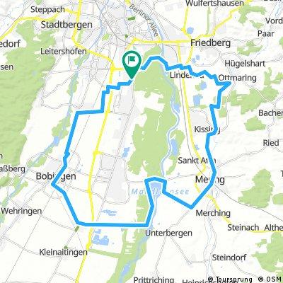 E-Bike Augsburg, Bobingen, Mering, Kuhsee