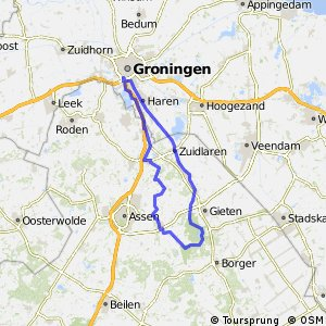 Cycling routes and bike maps in and around Groningen | Bikemap ...