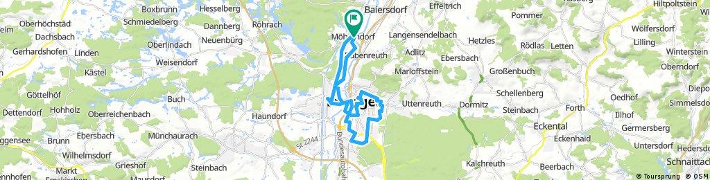 Rädli Erlangen 2017 Dennerlein/Gagel Route