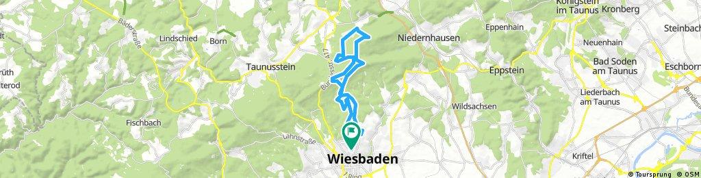 Lange Ausfahrt durch Wiesbaden