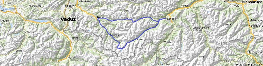 Landeck-Silvretta Hochalpenstraße-Albergpaß-Landeck
