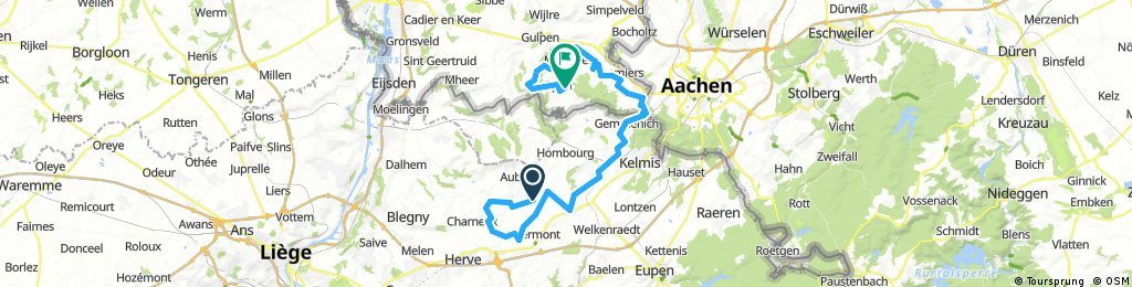 Long bike tour from Thimister-Clermont to Epen