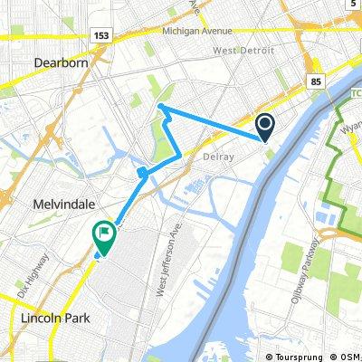 Brief bike tour through Detroit