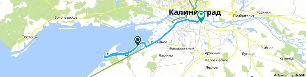 ride through Kaliningrad