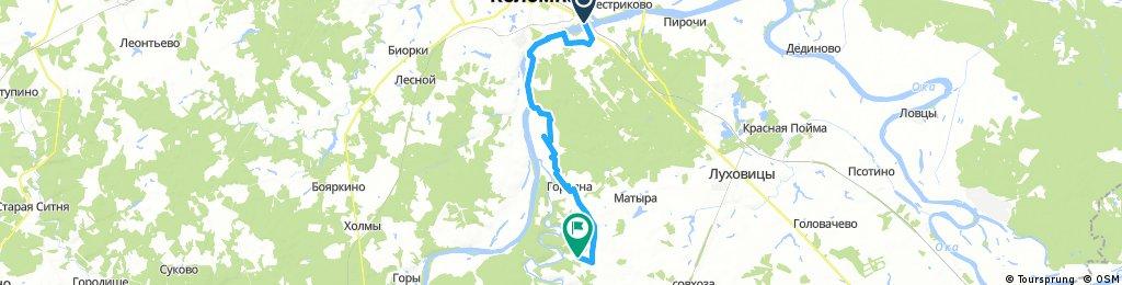 Lengthy ride from Kolomna to Астаповское сельское поселение