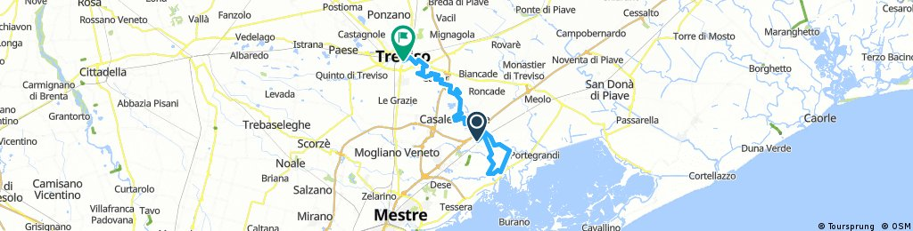 Lengthy Bike Tour from Quarto d'Altino to Treviso