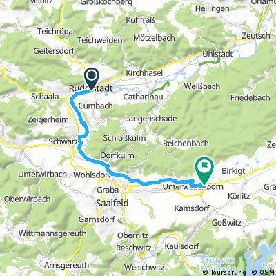 Radrunde von Rudolstadt nach Unterwellenborn